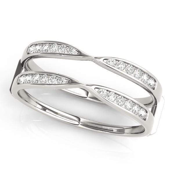Wedding Bands 14kt / White Wedding Bands Wraps & Inserts angelucci-jewelry