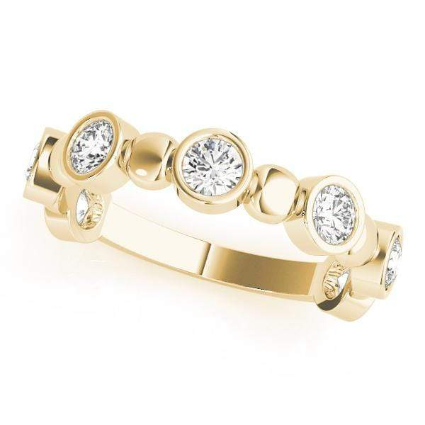 angelucci-jewelry-1/2-Carat Round Brilliant Shape Bezel-Set Stackable Diamond Wedding Ring