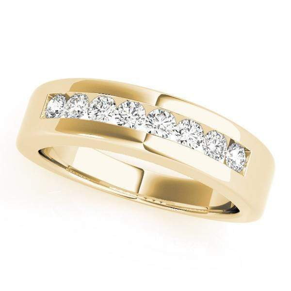 Wedding Bands 14kt / Yellow Wedding Bands Channel Set angelucci-jewelry