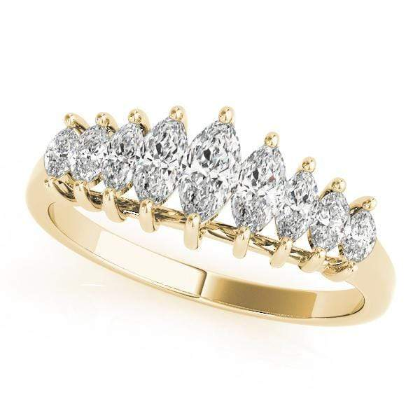 angelucci-jewelry-1-Carat Marquise-Shape Cathedral-Set Diamond Wedding Ring
