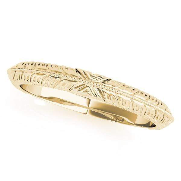 angelucci-jewelry-Art-Deco Gold Wedding Ring with Milgraine Center