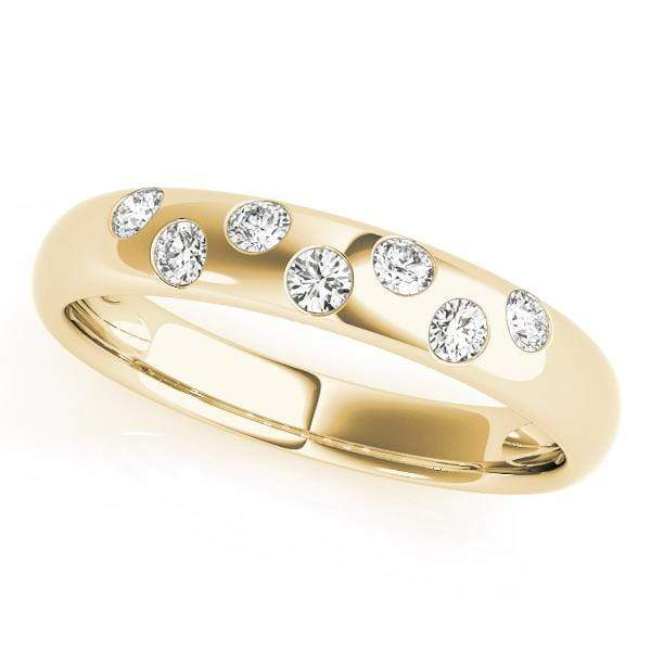 angelucci-jewelry-Round Brilliant Shape Flush-Set Gold Wedding Ring