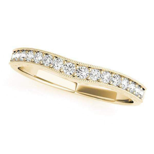 Wedding Bands 14kt / Yellow Wedding Bands Pave angelucci-jewelry