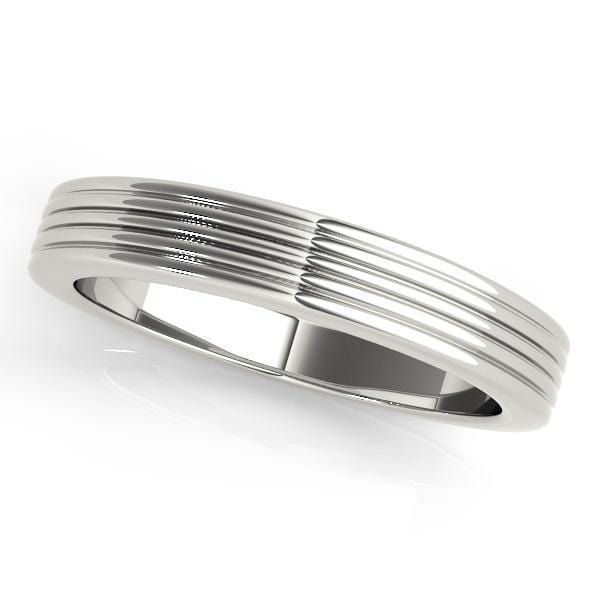 angelucci-jewelry-Gold Wedding Ring with Multi-Grooved Band