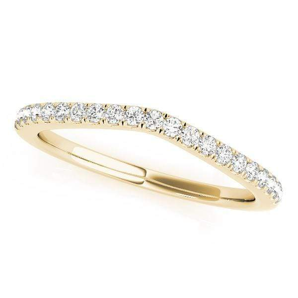 Wedding Bands A / 14kt / Yellow Wedding Bands Curved Bands angelucci-jewelry