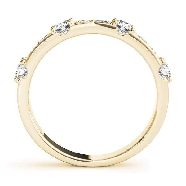 angelucci-jewelry-5/8-Carat Round Brilliant Shape Prong-Set Stackable Diamond Wedding Ring