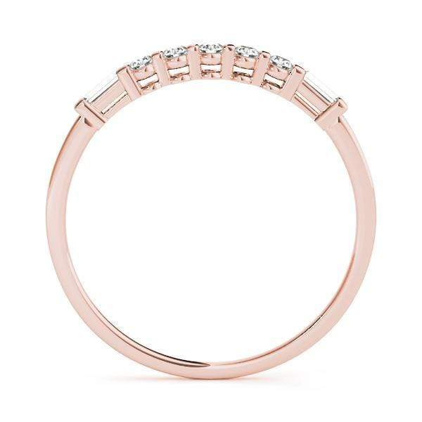 angelucci-jewelry-1/8-Carat Petite Round Brilliant Shape and Baguette Shape Diamond Wedding Ring