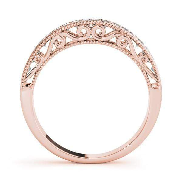 angelucci-jewelry-3/8-Carat Art-Deco Princess Shape Wedding Ring with Milgraine Borders