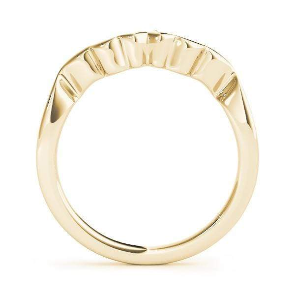 angelucci-jewelry-Center-Point Curved Gold Wedding Ring