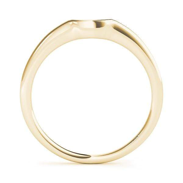 angelucci-jewelry-Petite Curved Gold Wedding Ring