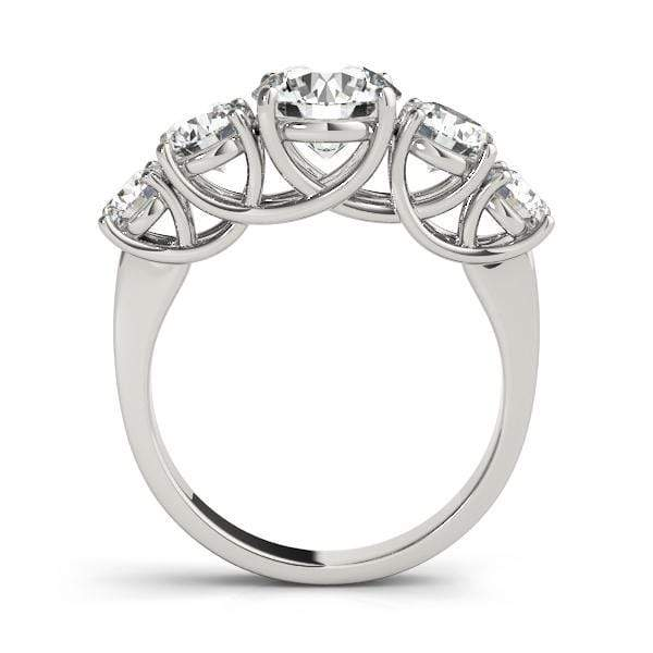 angelucci-jewelry-1 1/3-Carat 5-Stone Round Brilliant Shape 14-Karat Trellis Diamond Wedding Ring
