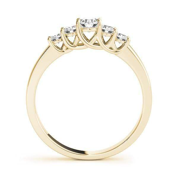 angelucci-jewelry-5 Stone Round Brilliant Shape Trellis Wedding Ring