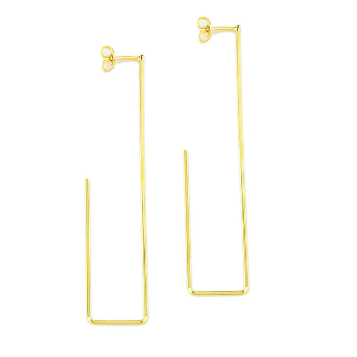 Women - Jewelry - Earrings 18k GL Skinny Long Drop Earrings angelucci-jewelry