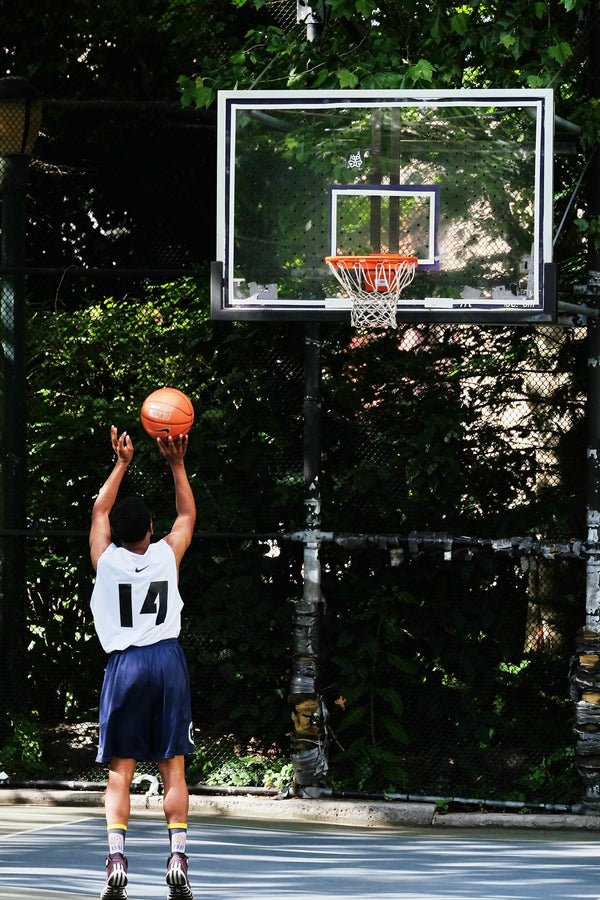 Athlete playing basketball
