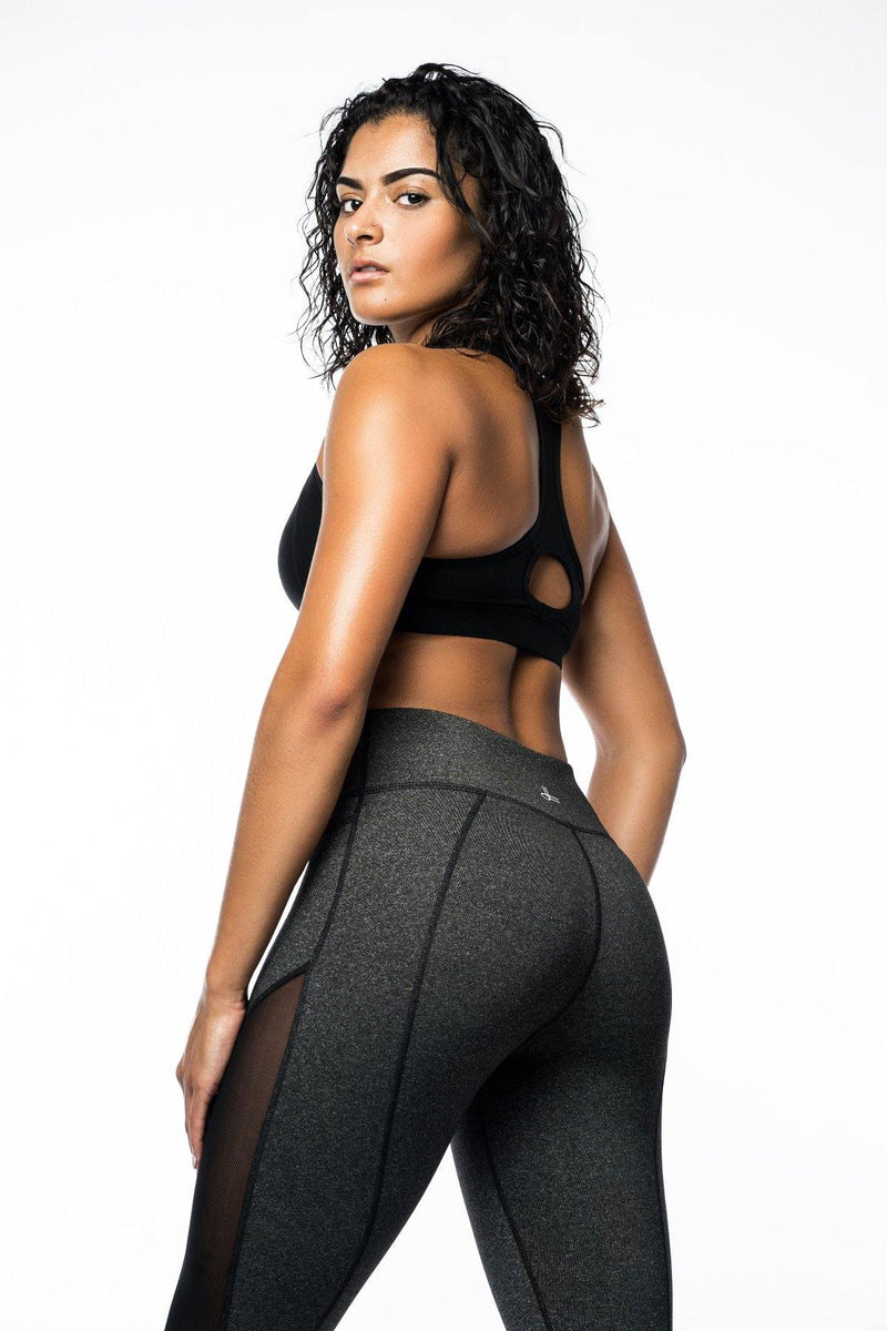 Grey Mesh Kamili Yoga Pants
