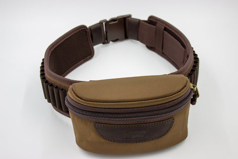 Cartridge belt with removable pouch
