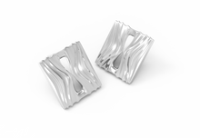Infinity Square Earring Stud