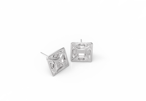 Exo Square Earring Studs