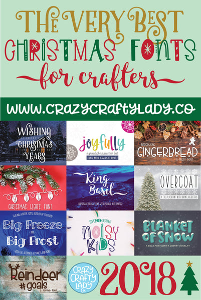 The Very Best Christmas Fonts for Crafters
