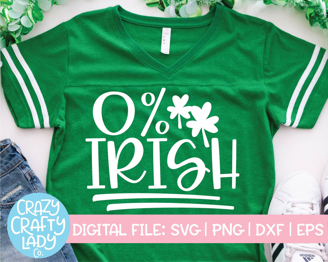 0% Irish SVG Cut File