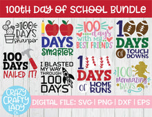 Load image into Gallery viewer, 100th Day of School SVG Cut File Bundle