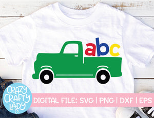 ABC Truck SVG Cut File