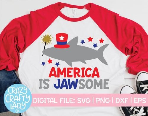 America Is Jawsome SVG Cut File