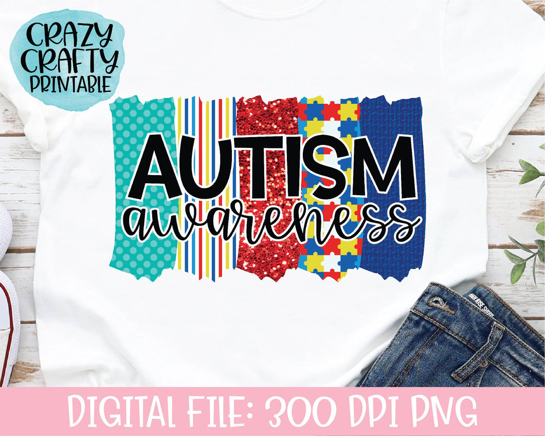 Autism Awareness PNG Printable File