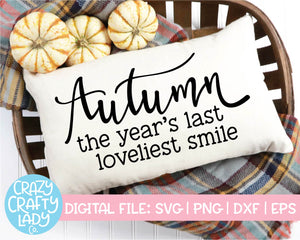 Fall Sign SVG Cut File Bundle