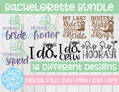 Bachelorette SVG Cut File Bundle