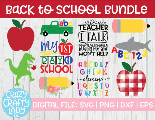 Back to School SVG Cut File Bundle