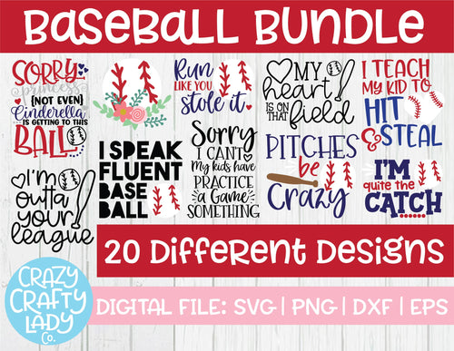 Baseball SVG Cut File Bundle