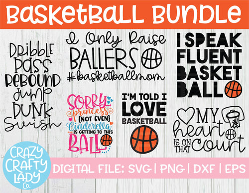 Basketball SVG Cut File Bundle