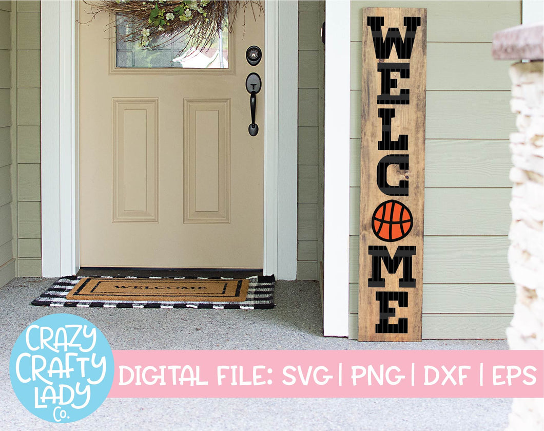 Basketball Welcome SVG Cut File