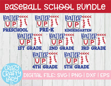 Load image into Gallery viewer, Baseball School SVG Cut File Bundle