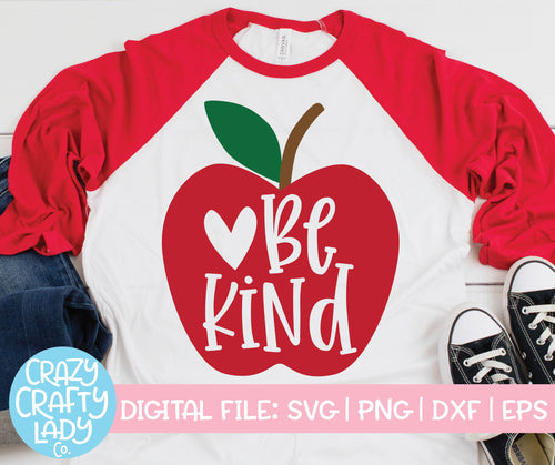 Be Kind Apple SVG Cut File