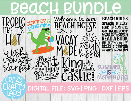 Beach SVG Cut File Bundle