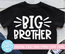 Load image into Gallery viewer, Big & Little Brother SVG Cut File Bundle