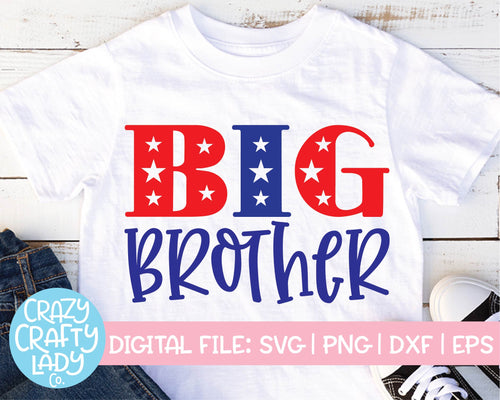 Patriotic Big Brother SVG Cut File