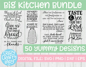 Big Kitchen SVG Cut File Bundle