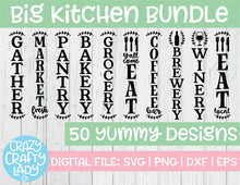 Load image into Gallery viewer, Big Kitchen SVG Cut File Bundle