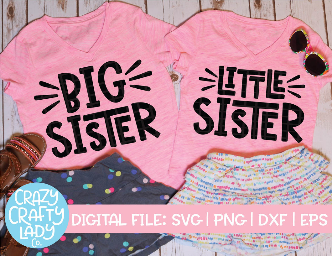 Big & Little Sister SVG Cut File Bundle