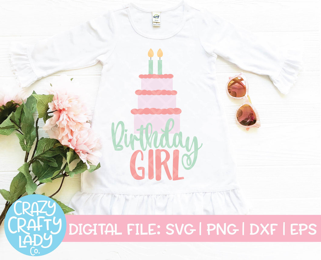 2nd Birthday Girl SVG Cut File