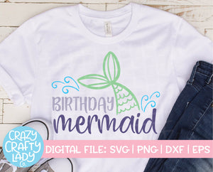 Birthday Mermaid SVG Cut File