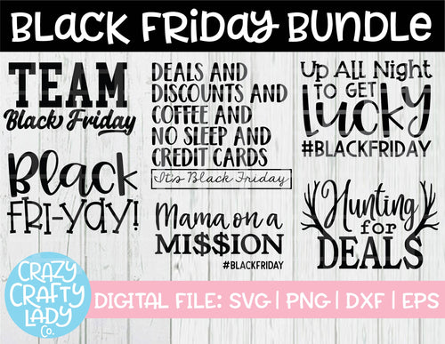Black Friday SVG Cut File Bundle