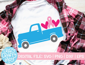Breast Cancer Awareness Truck SVG Cut File