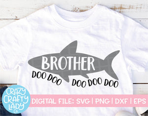 Brother Shark SVG Cut File
