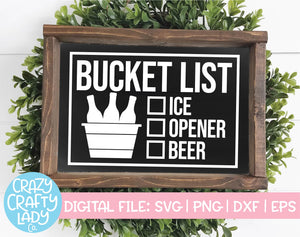 Bucket List SVG Cut File