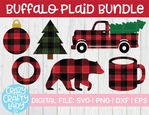 Buffalo Plaid SVG Cut File Bundle
