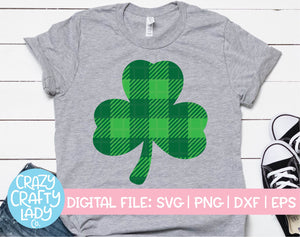 Buffalo Plaid Clover SVG Cut File